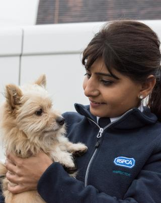 RSPCA inspector with dog